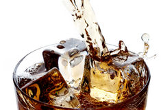 Pouring whiskey into glass Royalty Free Stock Photo