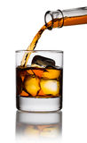 Pouring whiskey in glass Stock Image