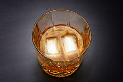 Pouring whiskey in nice glass Stock Photos