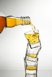 Pouring whiskey Royalty Free Stock Photo