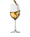 Pouring white wine Royalty Free Stock Photo