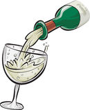 Pouring White Wine Royalty Free Stock Images