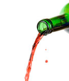 Pouring wine Stock Images