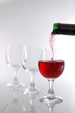 Pouring wine Stock Photography