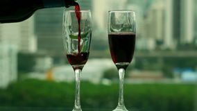 Pouring Wine stock video footage