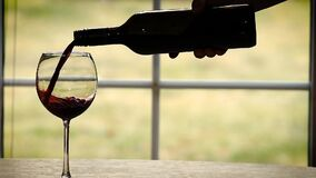 Pouring wine in slow motion. Usage for wine industry. Wine for cooking stock video footage
