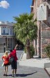 Pourist Sundial Dzhumaya Mosque Plovdiv Royalty Free Stock Image