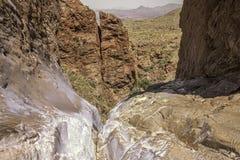 Pouroff da janela, parque nacional de curvatura grande, Texas, Estados Unidos da América fotos de stock royalty free