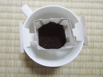 Pourover Coffee. Pour over coffee is so popular in Japan that instant pour-over packets are commonly sold Stock Images
