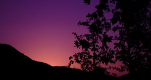 Pourpre de coucher du soleil Image libre de droits