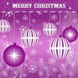 Pourpre de décoration de billes de Noël Images stock
