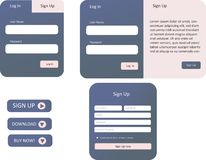 Pourpre et formes roses de Web illustration de vecteur