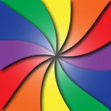Pourpre vert-bleu rouge en spirale coloré de jaune orange Photo stock