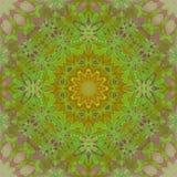 Pourpre vert orange d'ornement floral sans couture de cercle Images libres de droits
