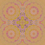 Pourpre violet jaune-orange de vert de chaux de citron d'ornement de cercles centré et brouillé Images libres de droits