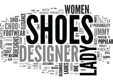 Pourquoi nuage de Madame Designer Shoes Are Special Word Image libre de droits