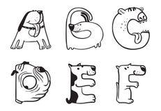 Poursuit l'alphabet Photographie stock libre de droits