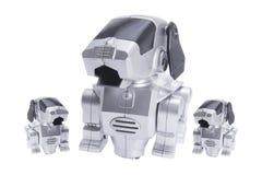 poursuit le jouet de robot Photo libre de droits