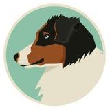 Poursuivez l'icône australienne de style de Geometric de berger de collection ronde Photographie stock libre de droits