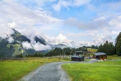 Pousa-copos alpina de Timoks em Fieberbrunn, Tirol, Áustria Imagem de Stock Royalty Free