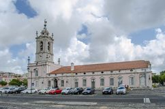 The Pousada of D. Maria is part of the Pousadas de Portugal netw. Queluz, Portugal - July 2014: The Pousada of D. Maria is part of the Pousadas de Portugal stock photography