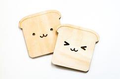Pousas-copos do pão isoladas no fundo branco Imagem de Stock Royalty Free