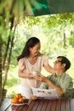 Épouse affectueuse Photographie stock