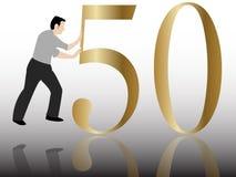 Poussée de la félicitation 50 illustration de vecteur