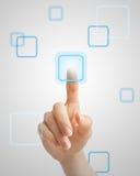 Poussée du bouton virtuel image libre de droits