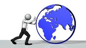 Poussée du monde illustration libre de droits