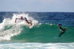 Poussée Surfsho de Kelly Slater Bondi Photos libres de droits