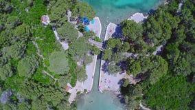 Pousse aérienne d'hélicoptère du lac de mer dans le ressortissant Photo libre de droits