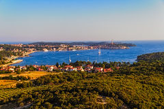 Pousse aérienne de Rovinj, Croatie photos stock
