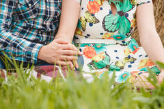 Pousse de concept de l'amitié et de l'amour Image stock