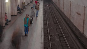 Pousse de laps de temps de station de métro Photo stock
