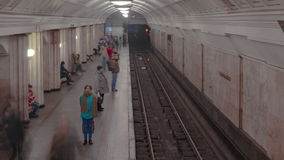 Pousse de laps de temps de station de métro Image stock