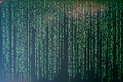 Pousse de Matrix Background illustration de vecteur