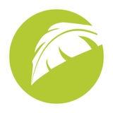 Pousse des feuilles l'icône d'isolement par symbole d'écologie illustration libre de droits