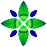 Pousse des feuilles le logo illustration libre de droits