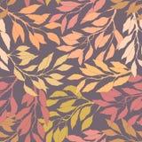 Pousse des feuilles le modèle sans couture d'automne illustration libre de droits