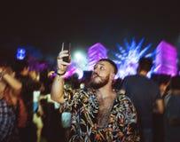 Pousse mobile Live Music Concert Festival de capture Photographie stock