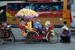 Pousse-pousse coloré au Malacca Image libre de droits