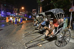 Pousse-pousse dans Kolkata Image libre de droits