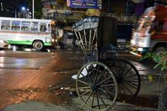 Pousse-pousse dans Kolkata Photographie stock libre de droits