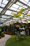Pousse-pousse de bicyclette dans le jardin Photographie stock libre de droits