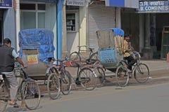 Pousse-pousse de cycle Image stock