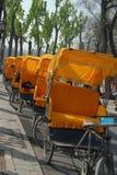 Pousse-pousse de cycle Photos libres de droits