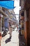 Pousse-pousse de cycle dans les rues Images stock