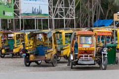 Pousse-pousse de Rikshaws/, île de Philippines images stock