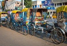 Pousse-pousse indien traditionnel Photos stock